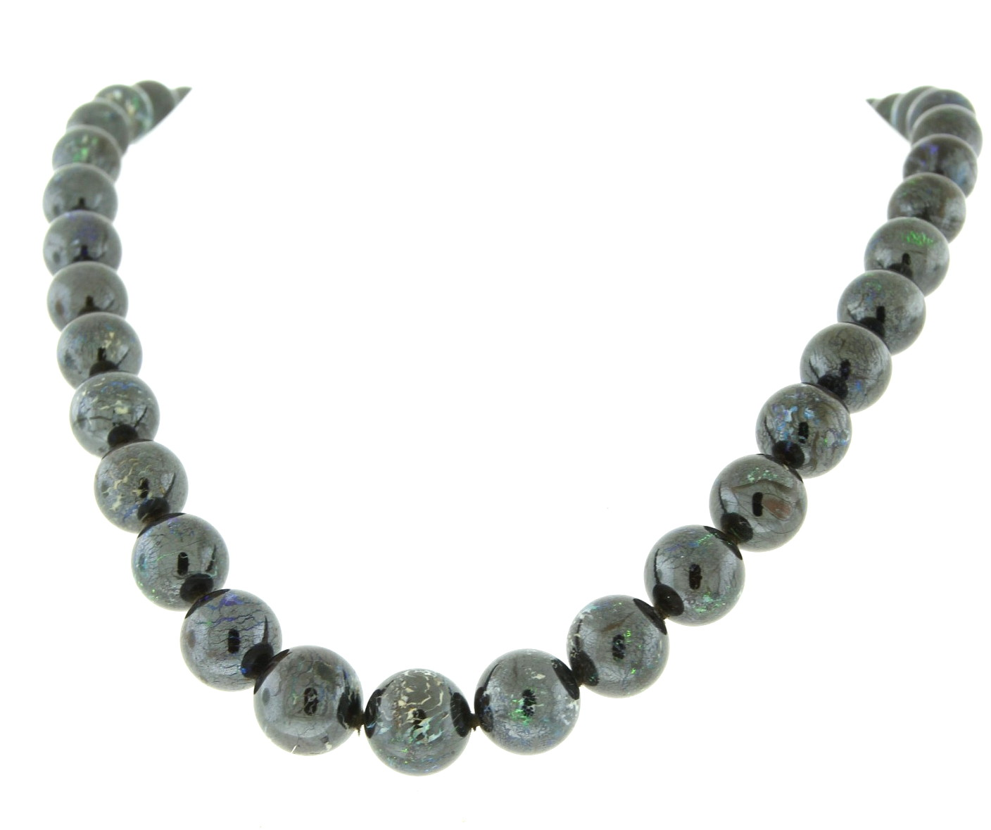 Boulder Opal Bead Necklace in Hufford's Estate Collection - available for purchase