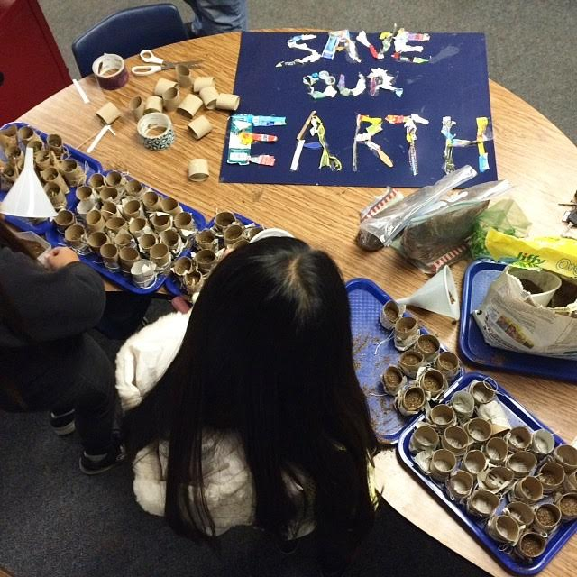 Efficiency campaigns came in all shapes and sizes, and incorporated other sustainability efforts, too.Some students even planted seedlings in compostable containers for Earth Day!