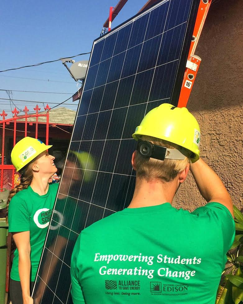 Much of my energy efficiency expertise came on the job - we even had the chance to install solar panels!