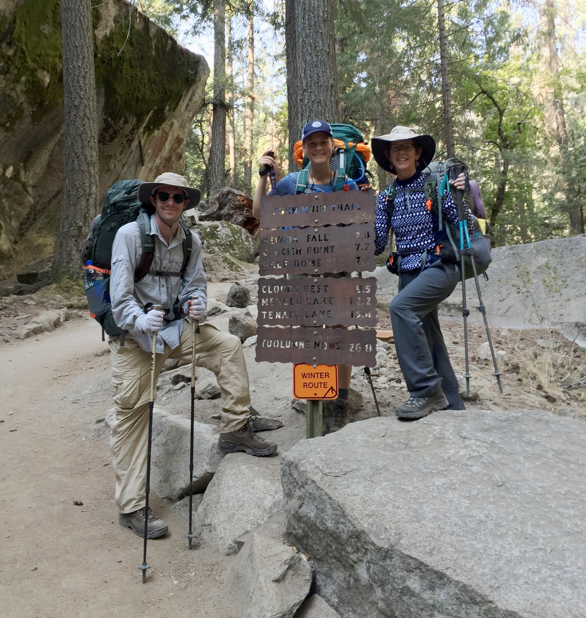 Day 1 on the Johh Muir Trail.