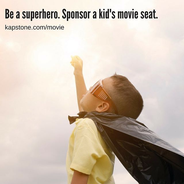 Dreamed of becoming a superhero lately?  Here's your chance to inspire some youth to dream big. Join Kapstone in sending underprivileged youth in our community to see Avengers: Infinity War at a special showing just for them. Let your inner superhero out, don your cape, and donate to this worthy cause today. Make your donation or RSVP for seats at kapstone.com/movie . . . #avengersinfinitywar #avengers #beasuperhero #sponsorakidsmovieseat  #marvel #movienight #communitymovienight #community #amctheaters #longbeach #losangeles #donate #superhero #ockids #LBC #longbeachkids #lakids #freemovietickets #cinemaexperience #bigscreen