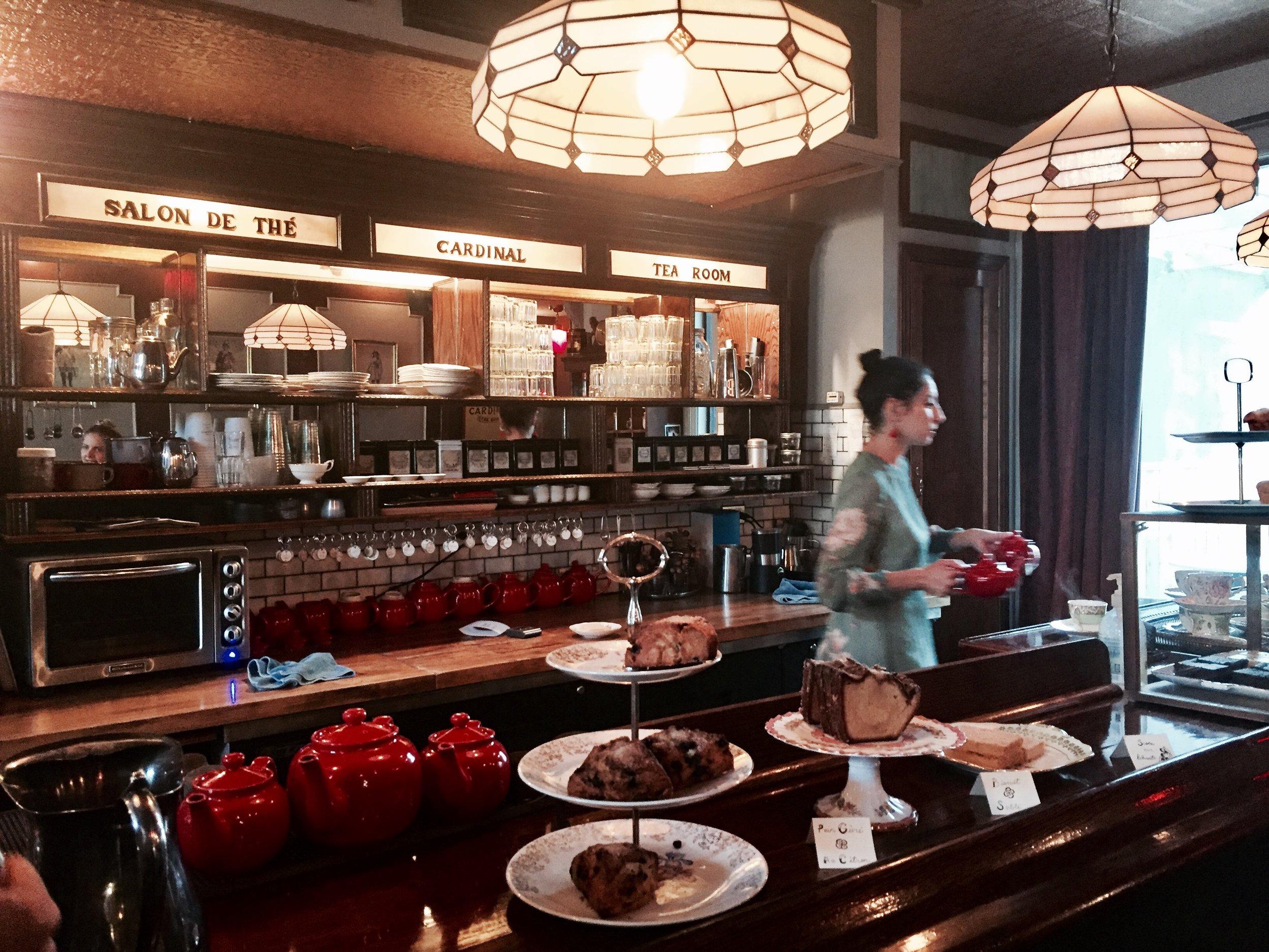 Cardinal tearoom