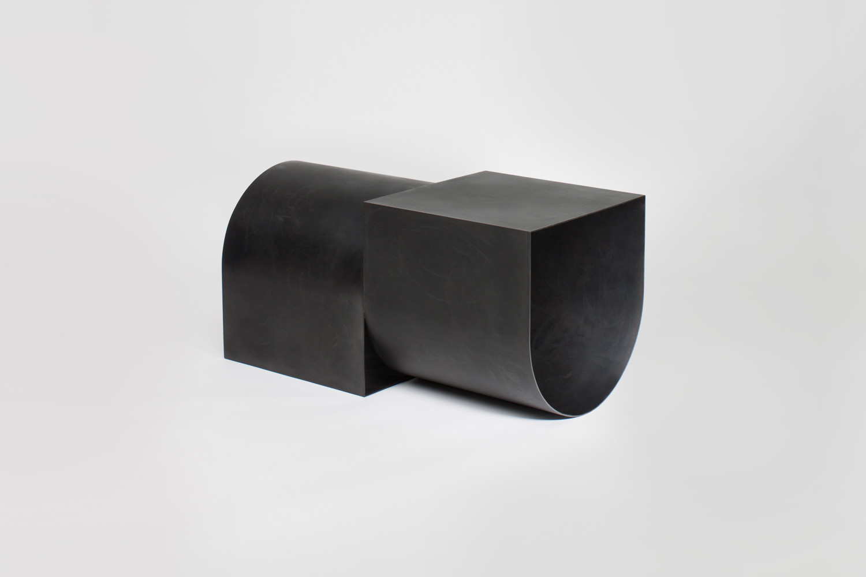 U Bench - 3' Blackened Steel