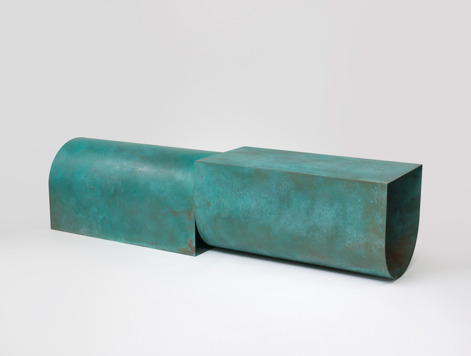 U Bench - Verdigris Patina