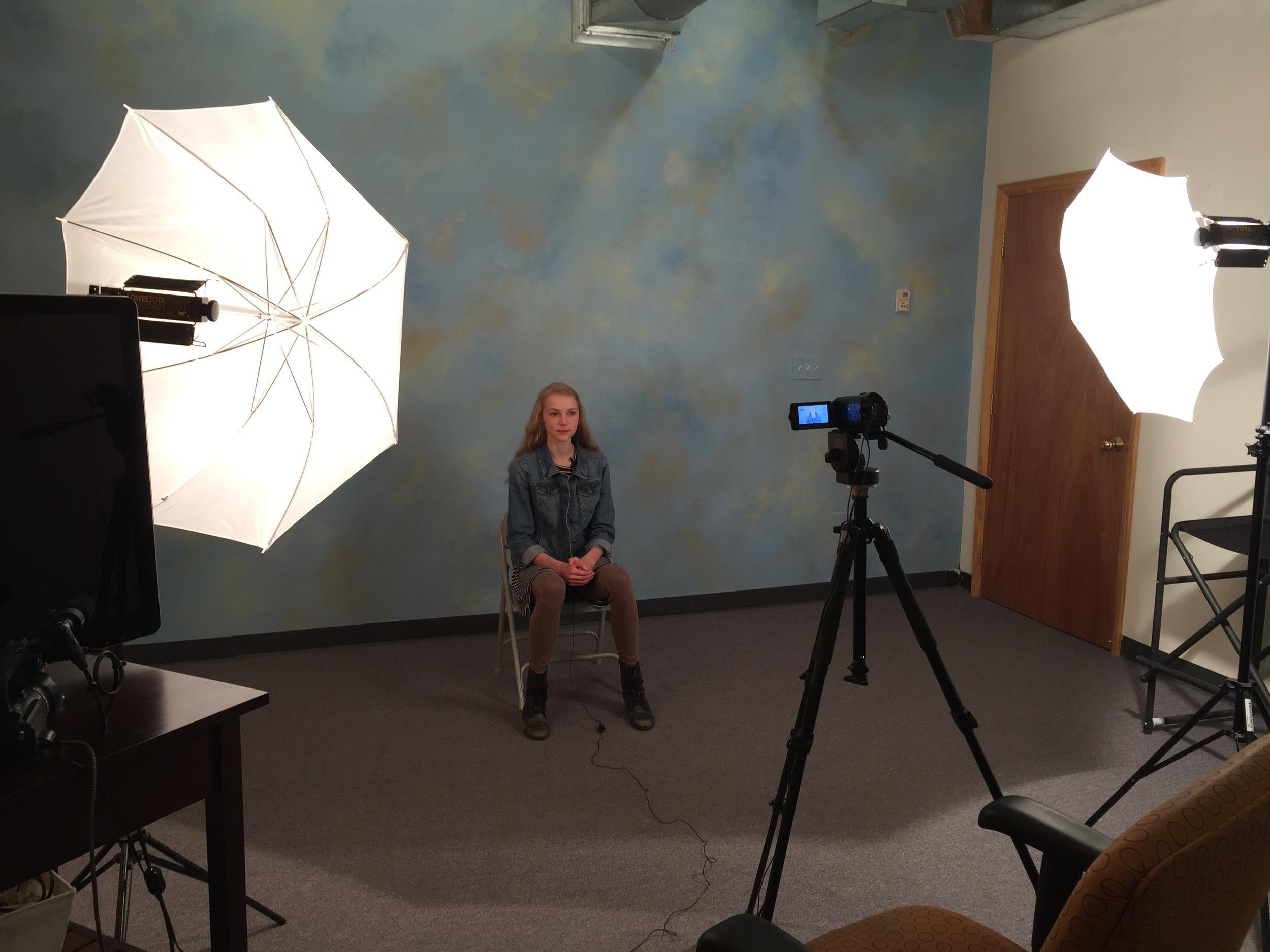 Abby Merrill in the Studio