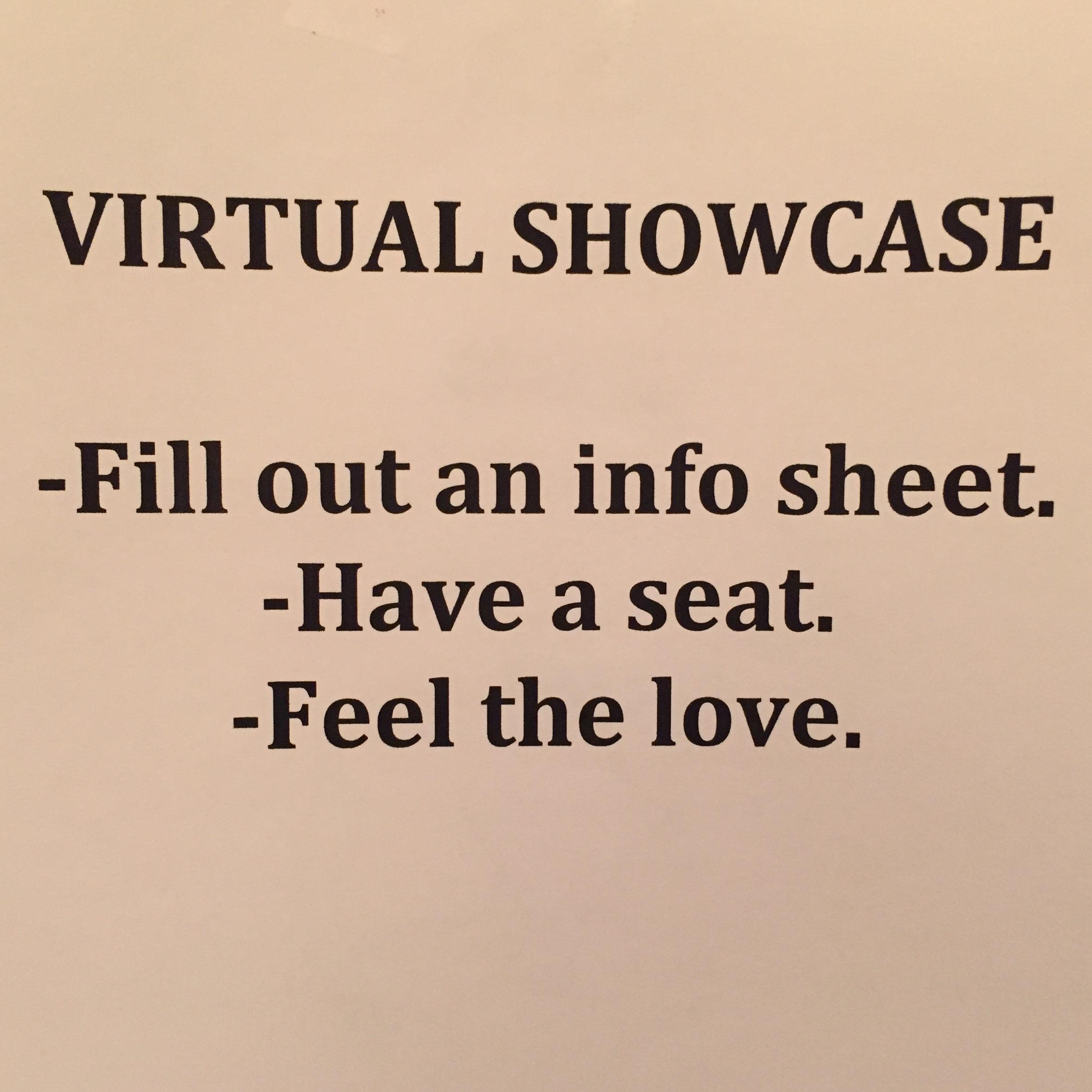 Virtual Showcase Sign