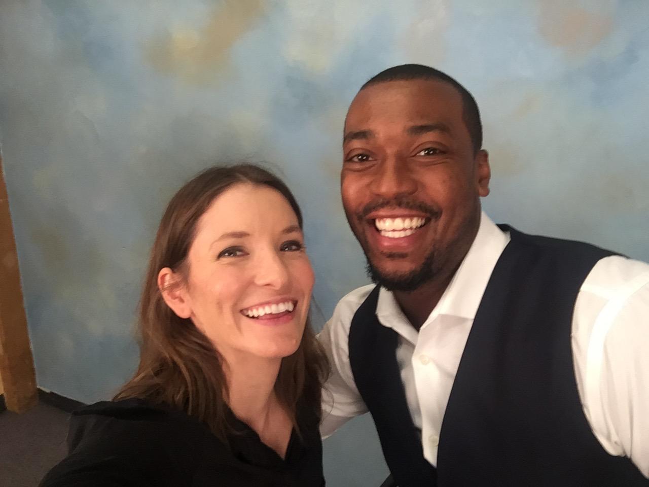 Kate McCoy and Jonathan Kirkland at Acting Studio Chicago.