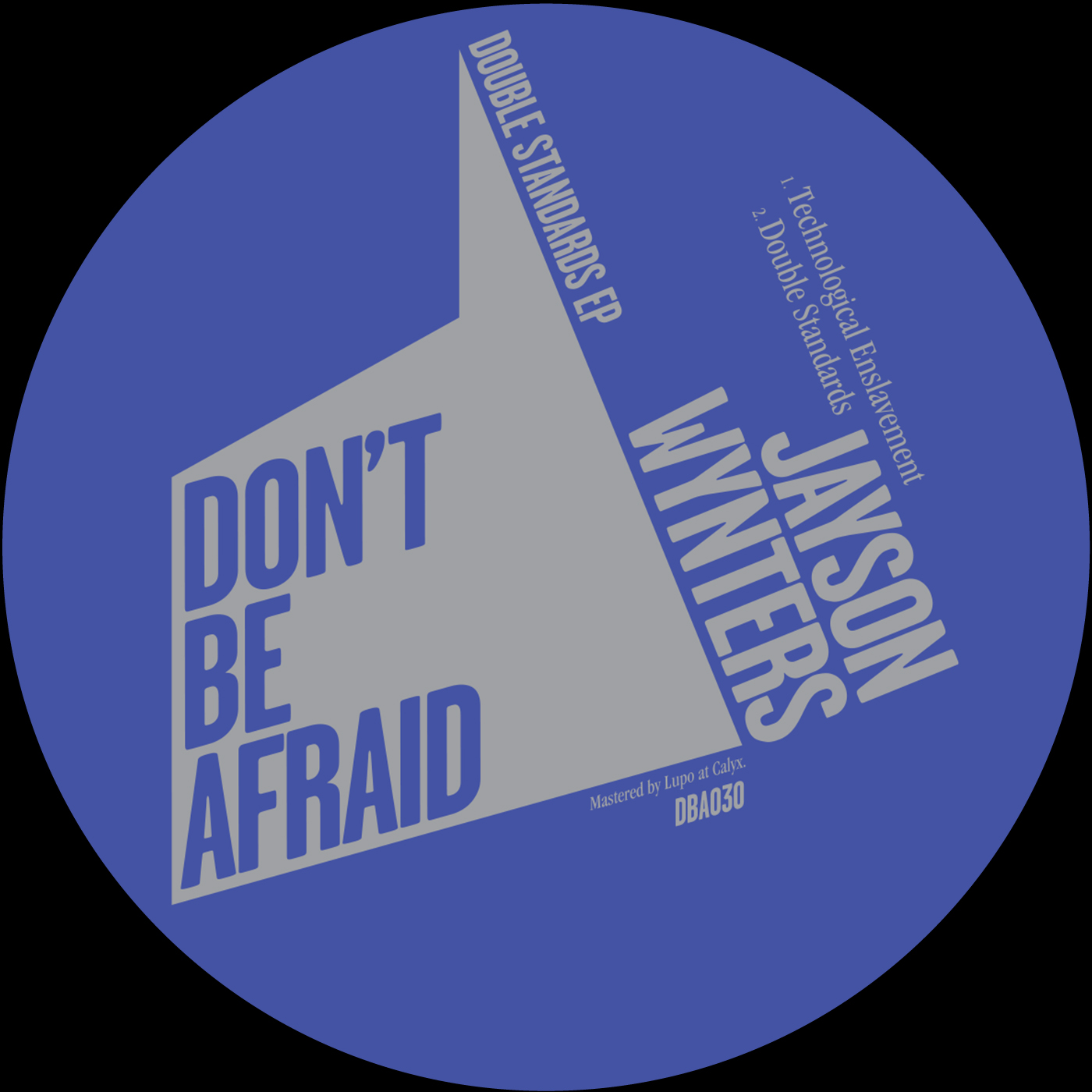 Jayson Wynters - Double Standards EP  31st March 2017  Don't Be Afraid