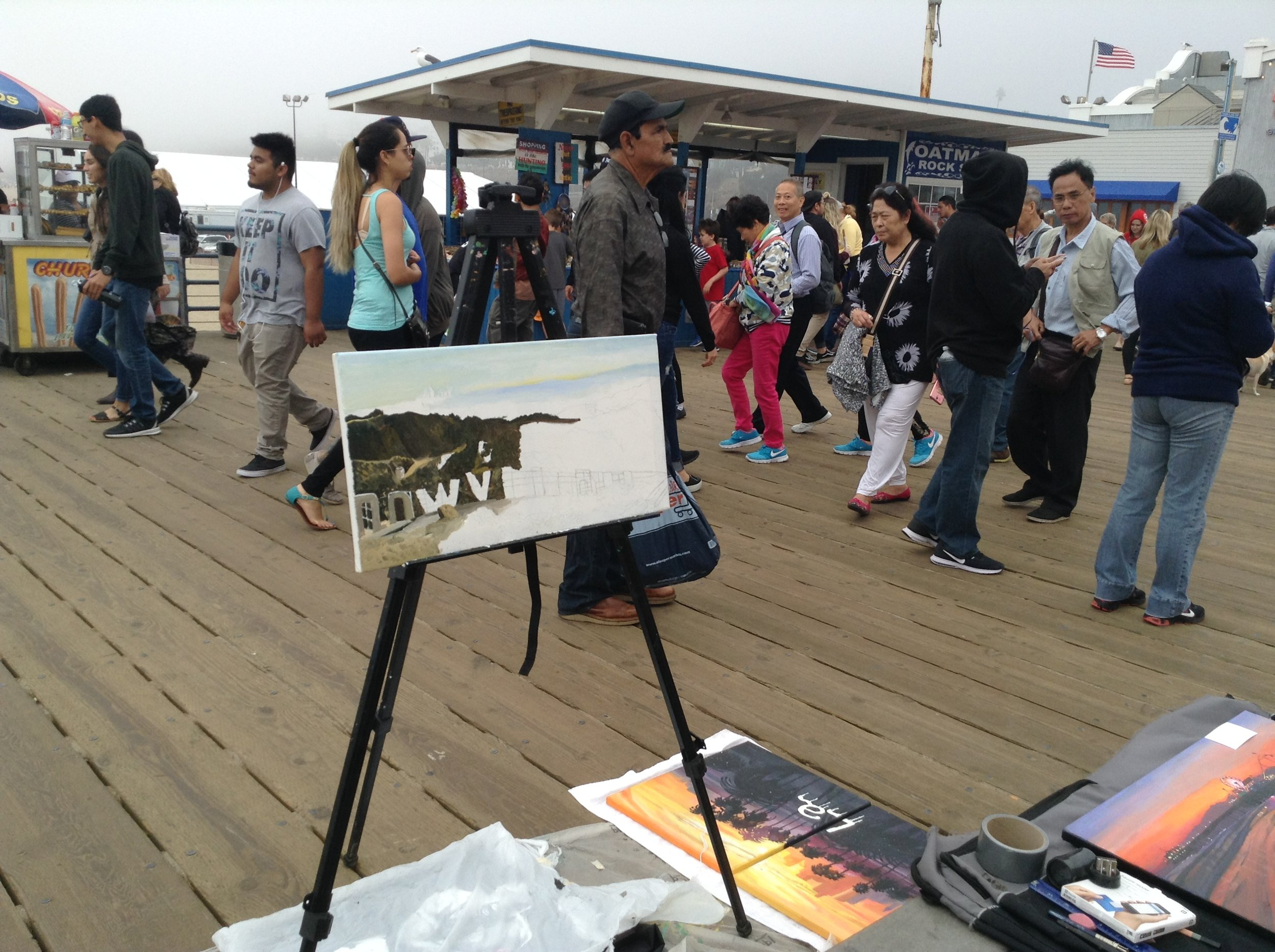 Art Show on the Santa Monica Pier in Los Angeles, California this past weekend.