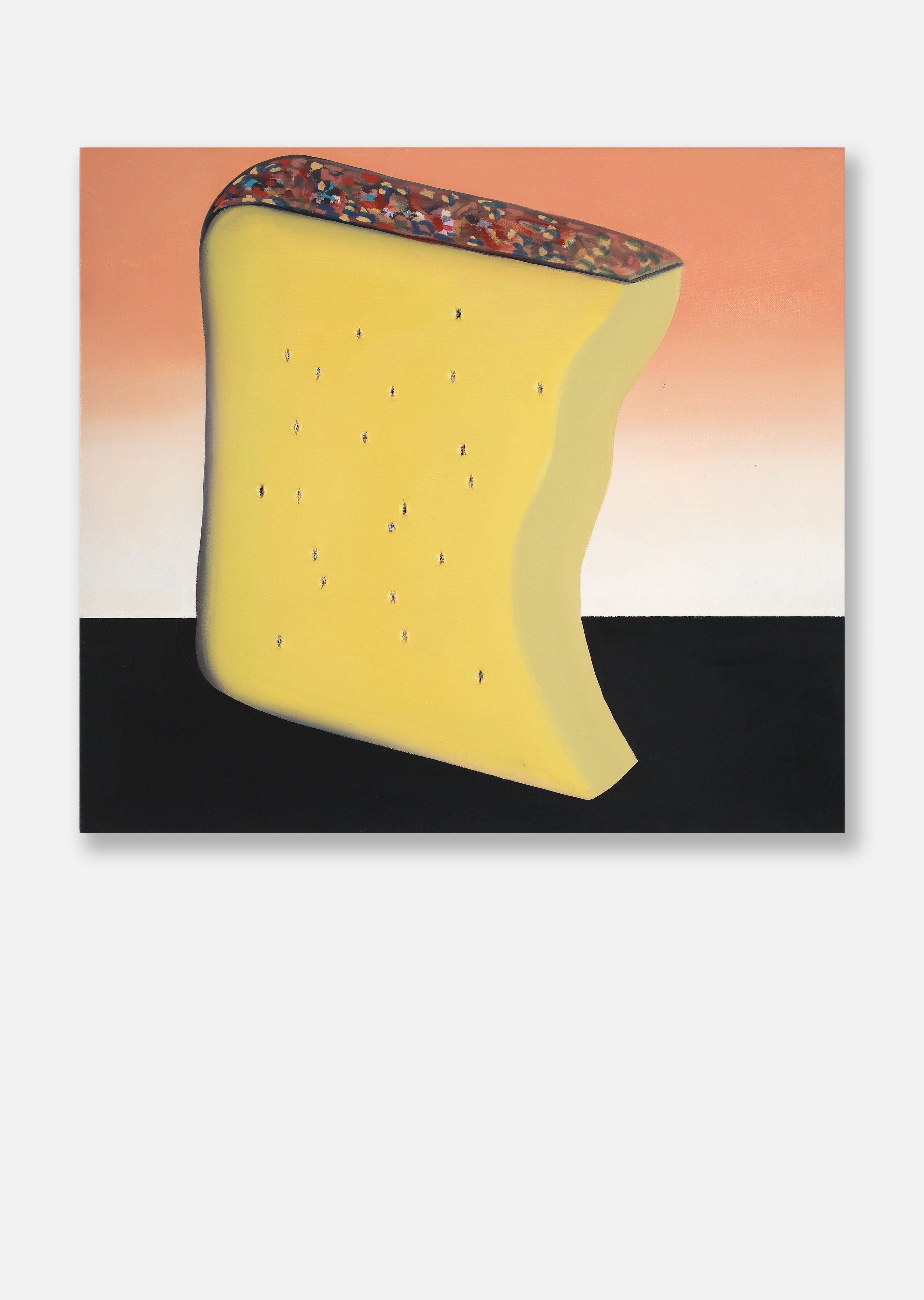 Paul Branca, Gruyère (dopo Fontana), 2019, oil on canvas , 44x48,5 cm.jpg