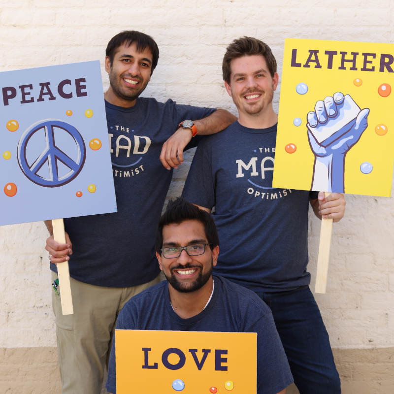 Mohammed, Anthony and Mohammed (Co-Founders of The Mad Optimist)
