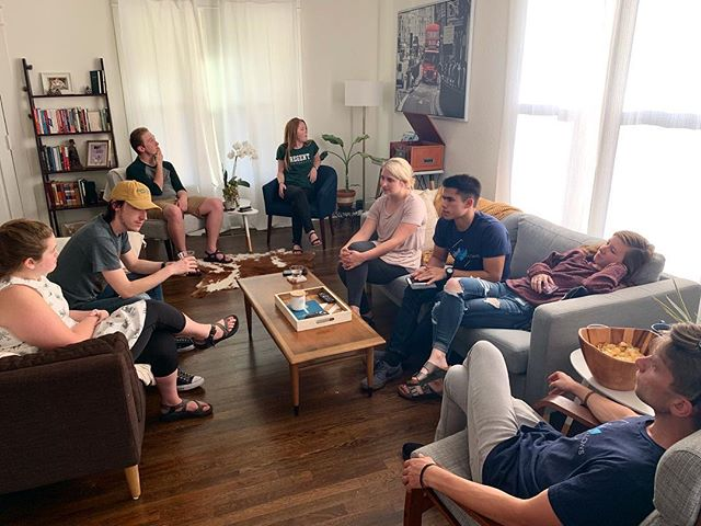 It's the simple things. We are grateful to get to sit in a circle as a team one last time before many of us graduate. We love each other's company and it is bittersweet as we look forward to graduation. #endofyearparty #bcwvf