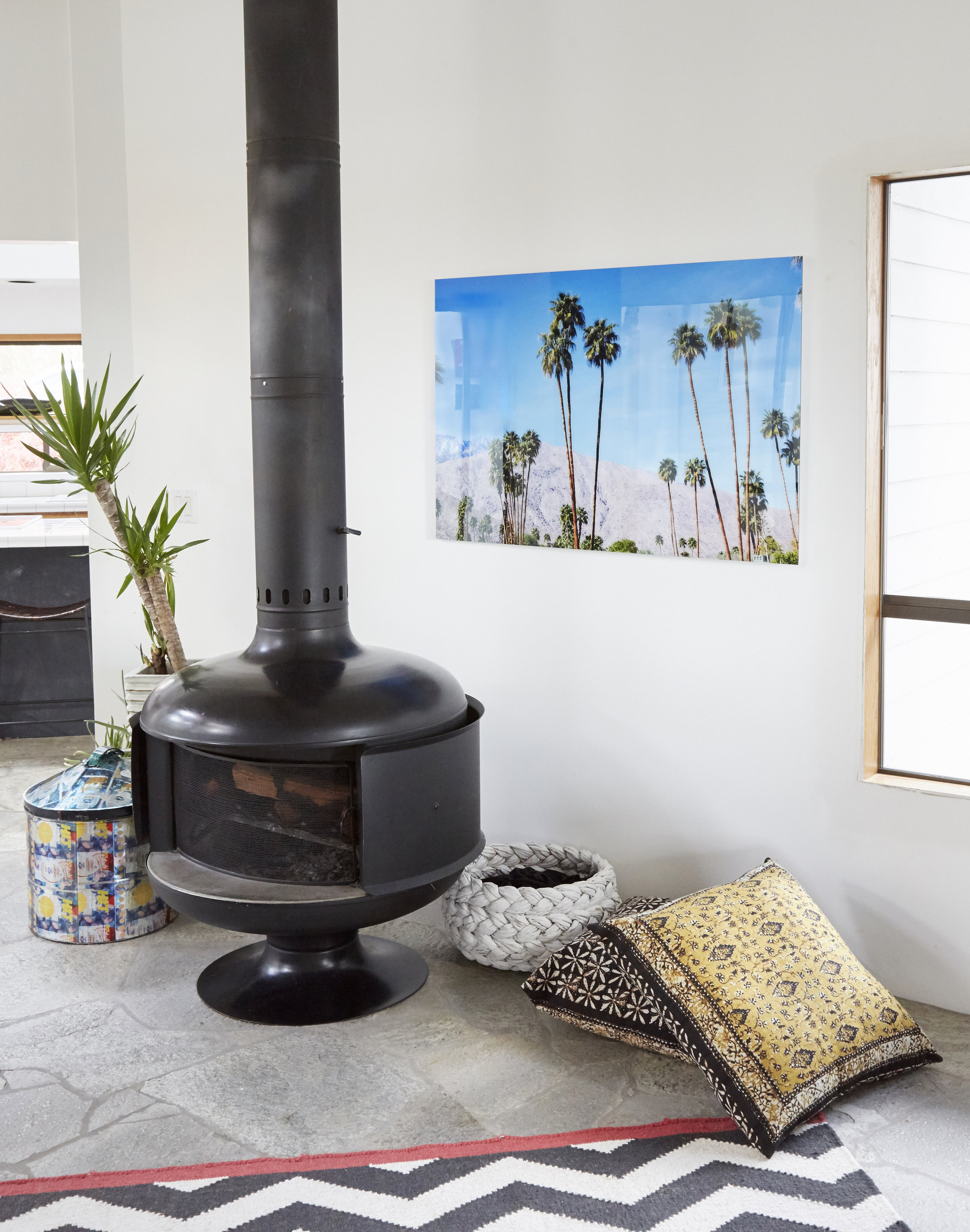 living room art fireplace
