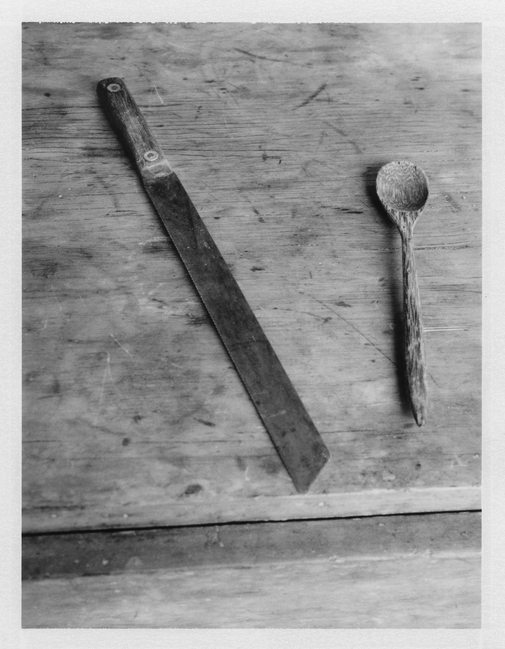 "Bread Knife & Wooden Spoon. 2015. Archival Pigment Print. 7"" x 5"""