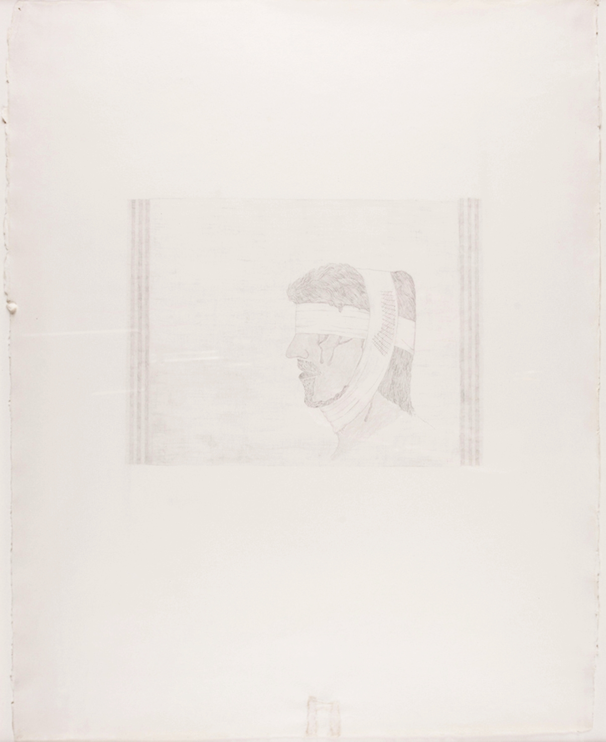 """Bandaged Soldier. 2010. Pencil Drawing. 30"""" x 22"""""""