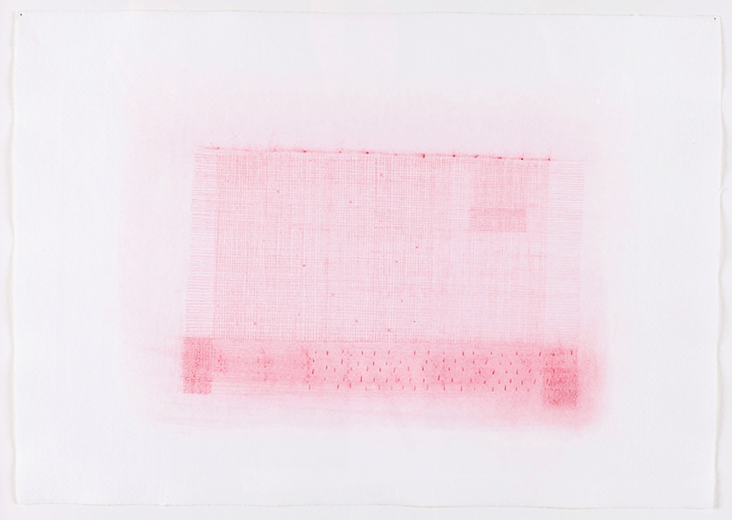 """Drawn Weaving in Red. 2010. Color Pencil. 18"""" x 22"""""""