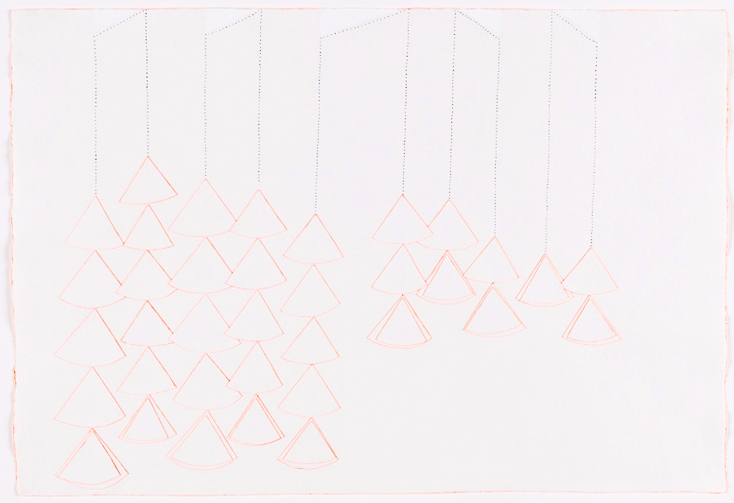 """Chimes. 2007.Ink, Gauche and Paper Paper. 11"""" x 19"""""""