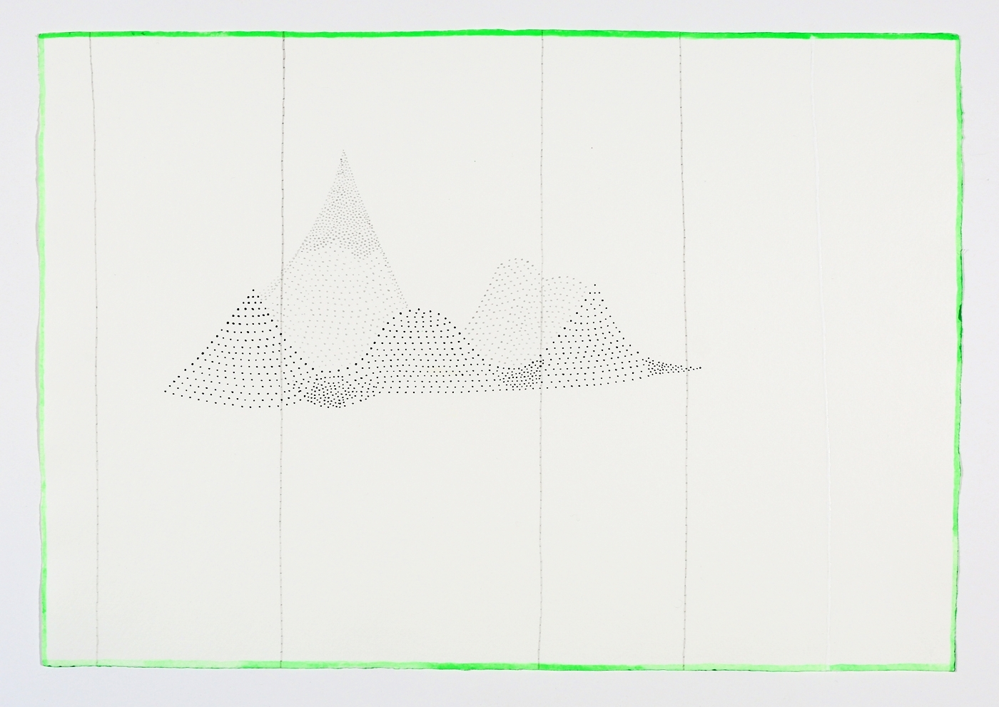 """Five Mountains. 2011. Ink on paper. 11"""" x 17"""""""