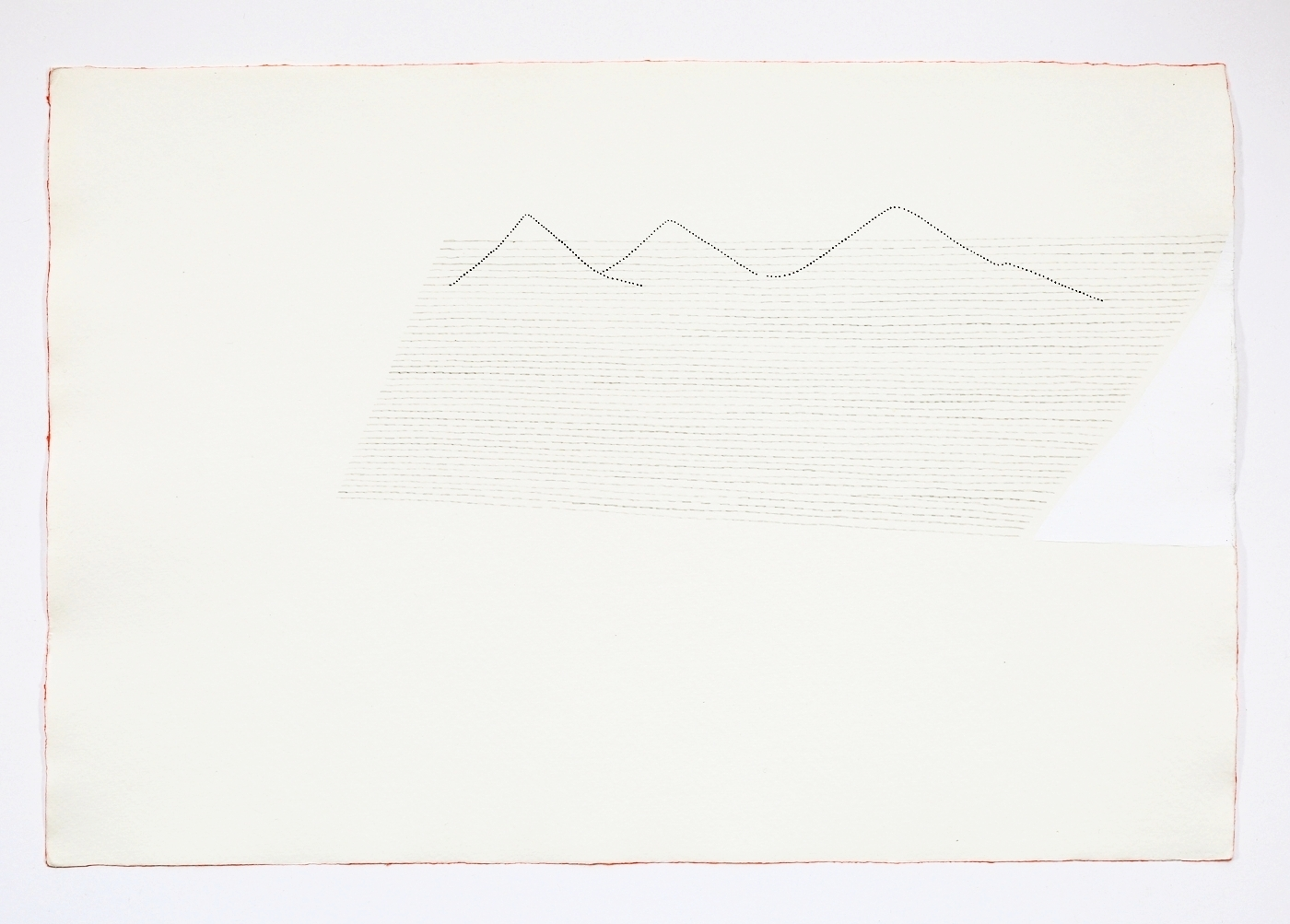 """Three Mountains. 2011. Ink on paper. 11"""" x 17"""""""