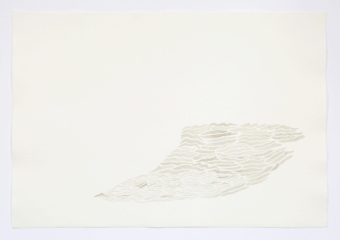 """Waves. 2011. Ink on paper. 11"""" x 17"""""""