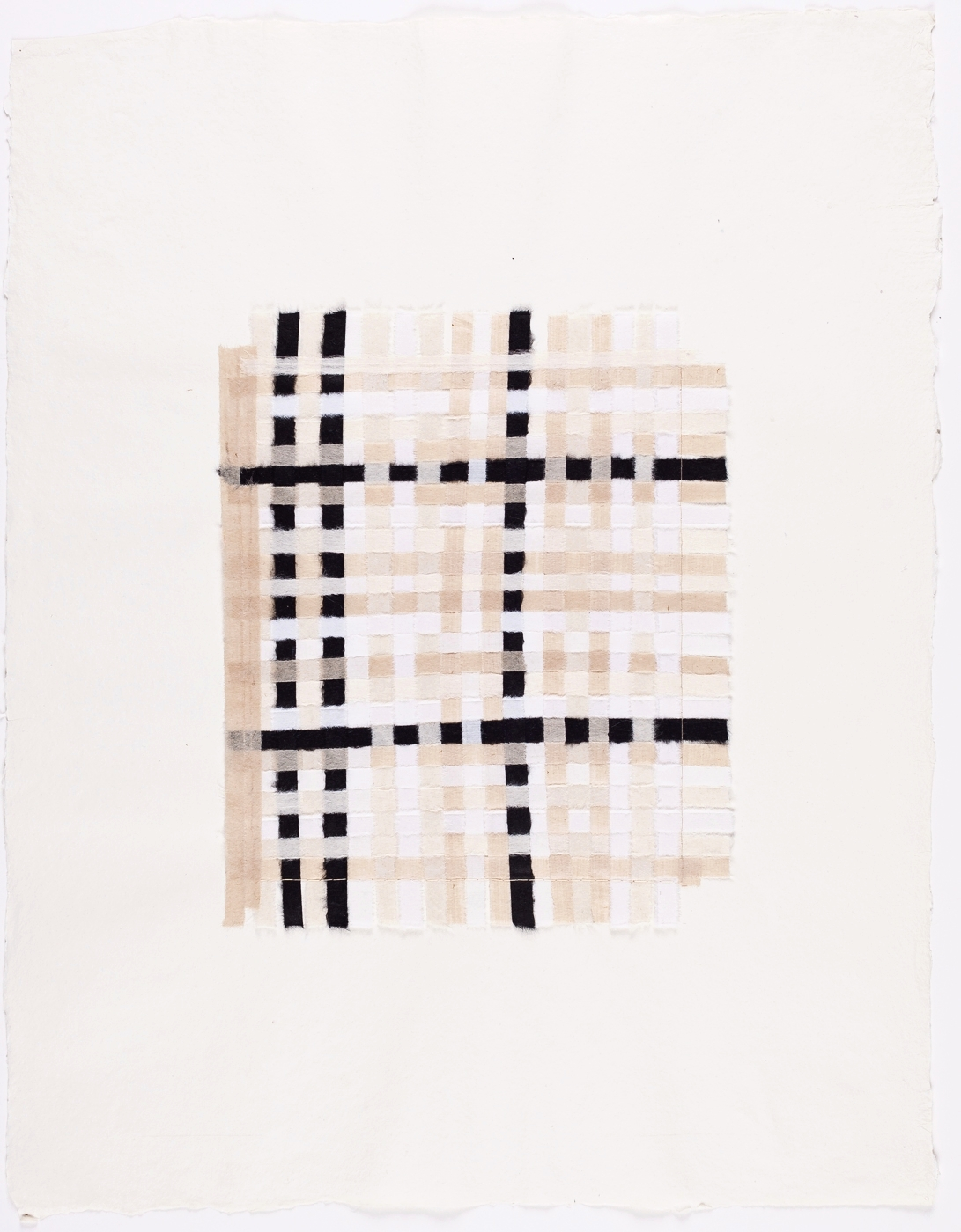 """Black, White & Brown Weaving. 2015. Paper and Glue. 13"""" x 10"""""""