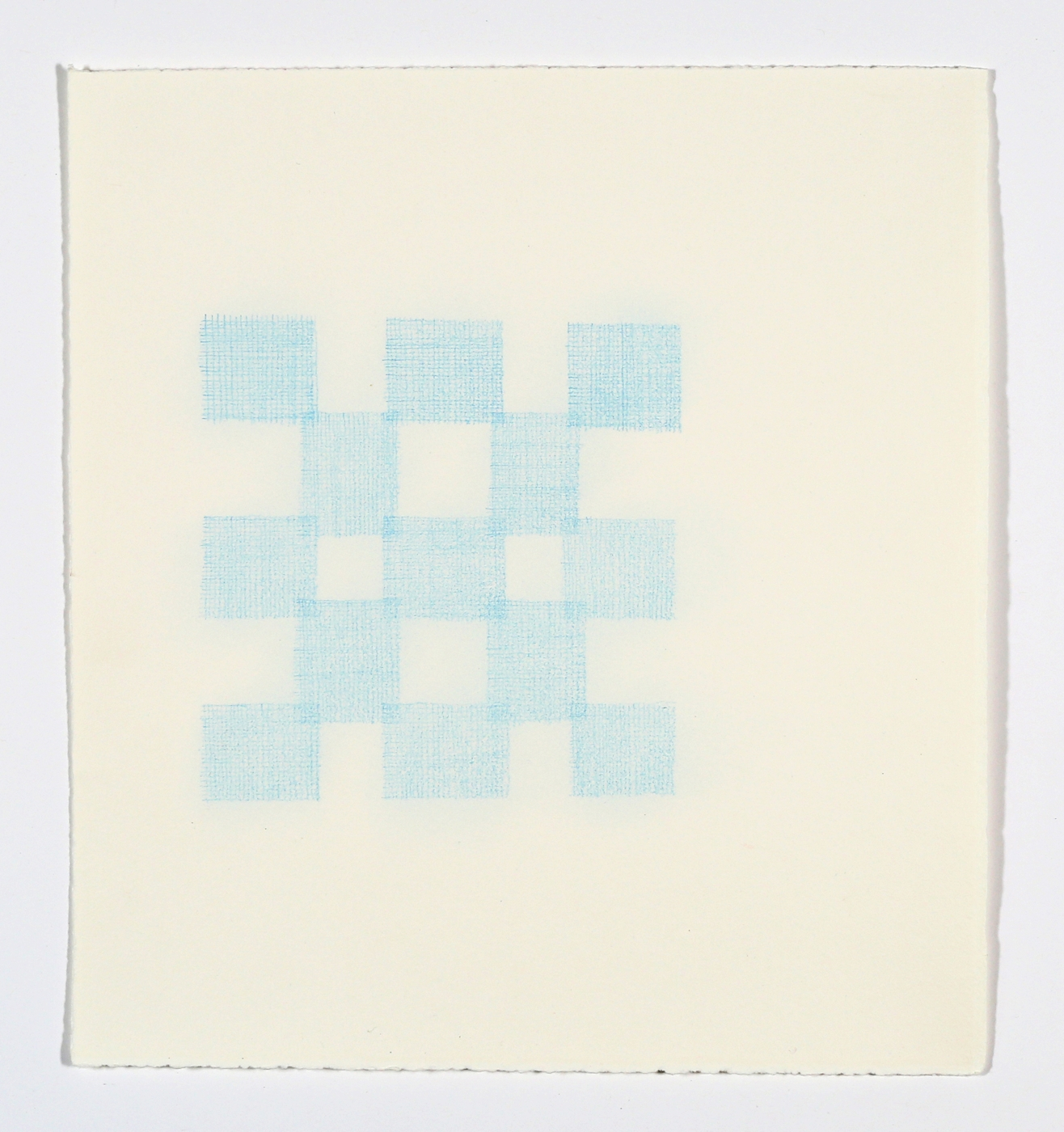 """Quilt Square No. 4. 2015. Colored Pencil on Paper. 14"""" x 13"""""""