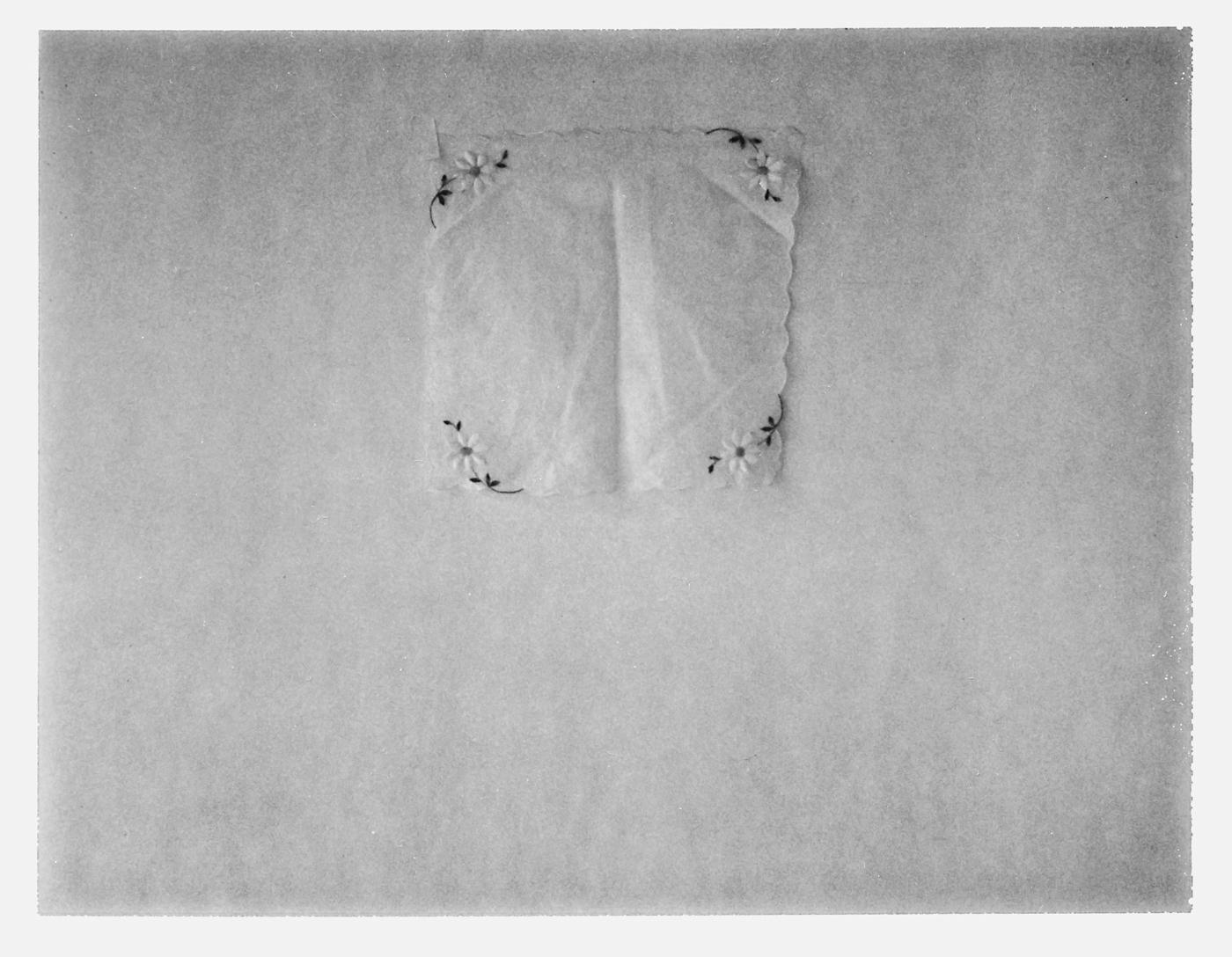 "Handkerchief with Daisies. 2017. Archival Pigment Print. 7"" x 9"""