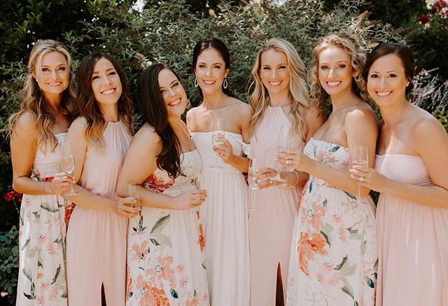 Aren't they all just gorgeous 😍😍 Congrats to this beautiful bride on her big day! We loved glamming you up! XO  Ps these dresses were there getting ready dresses! 💕 LOVE