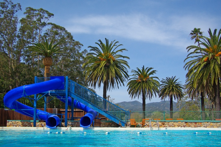Two water slides at Avila Hot Springs