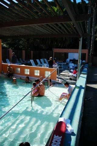 Hot tub, guests soaking
