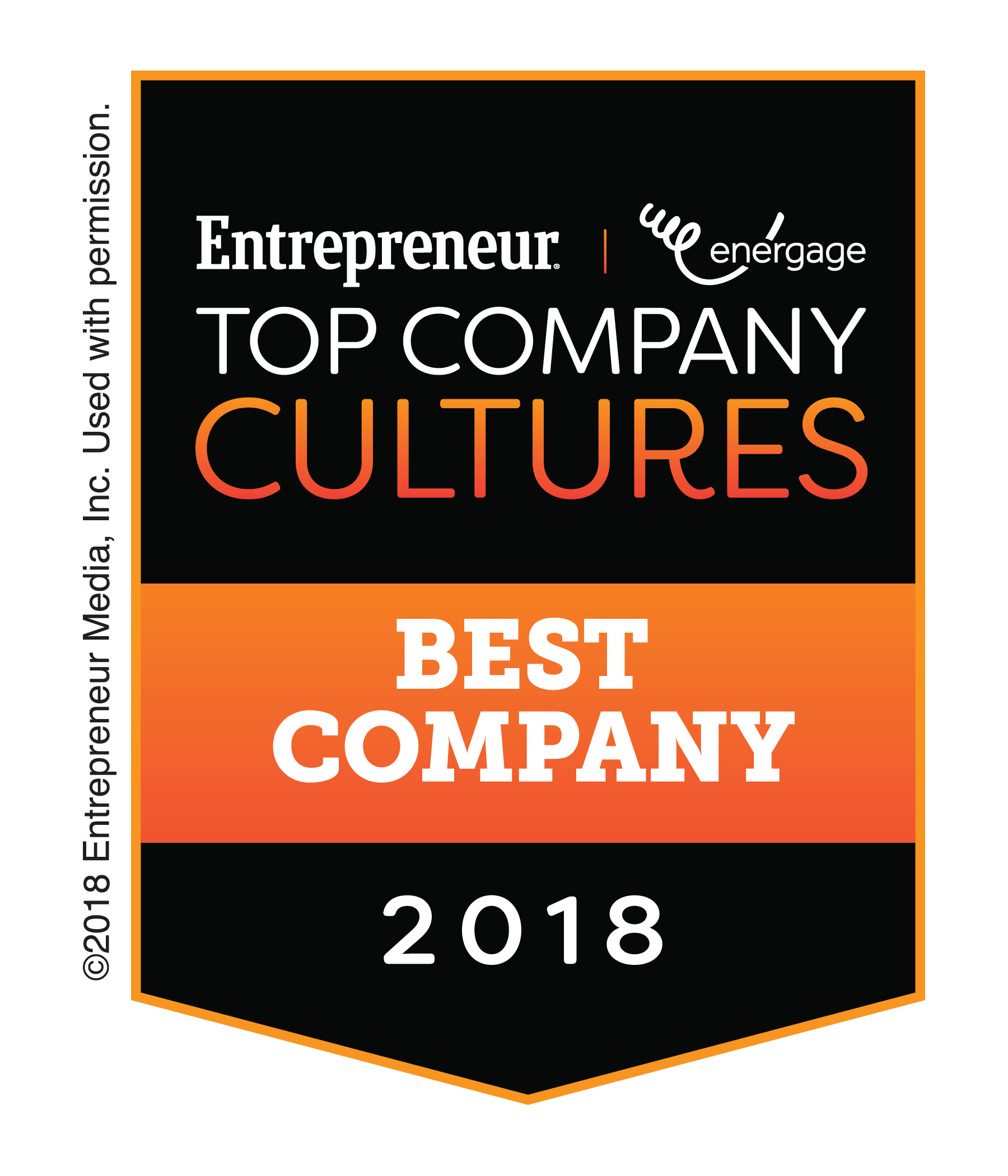 Entrepreneur Top Company Cultures 2018