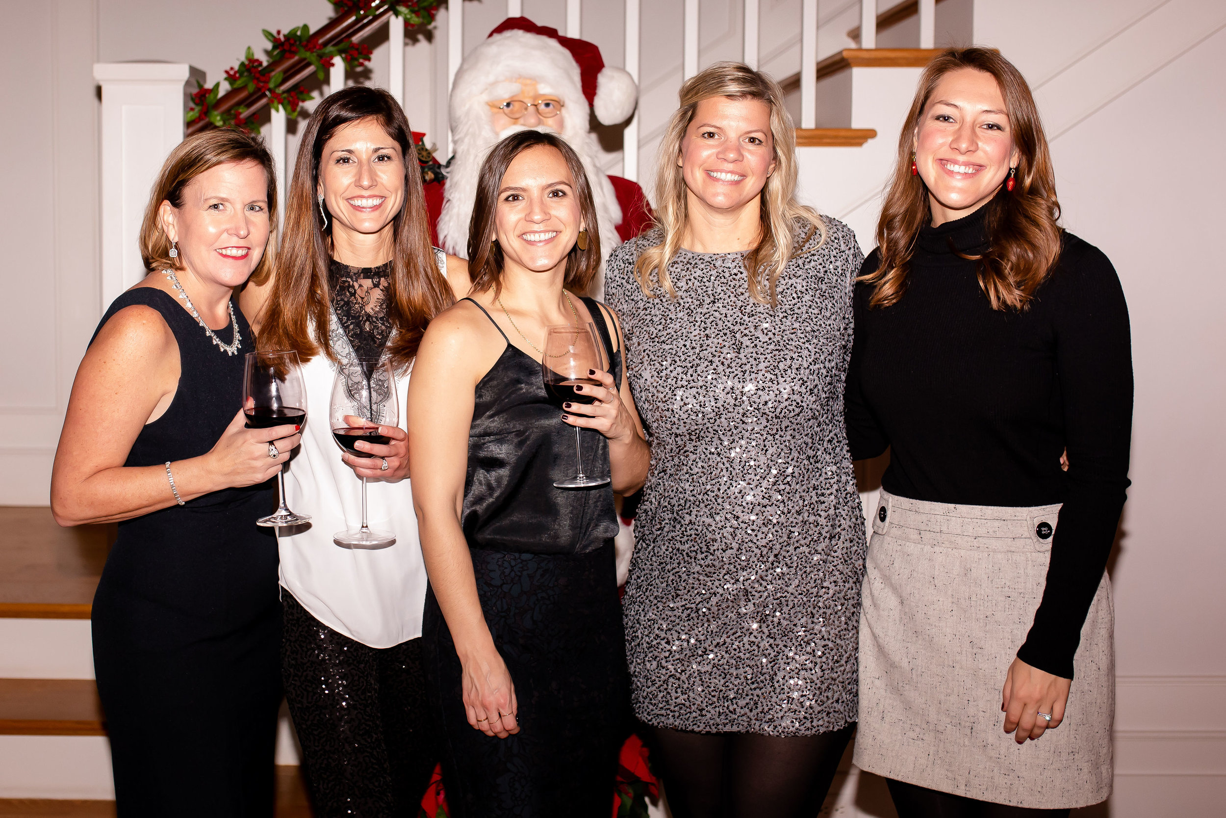 Marketing team at the holiday party