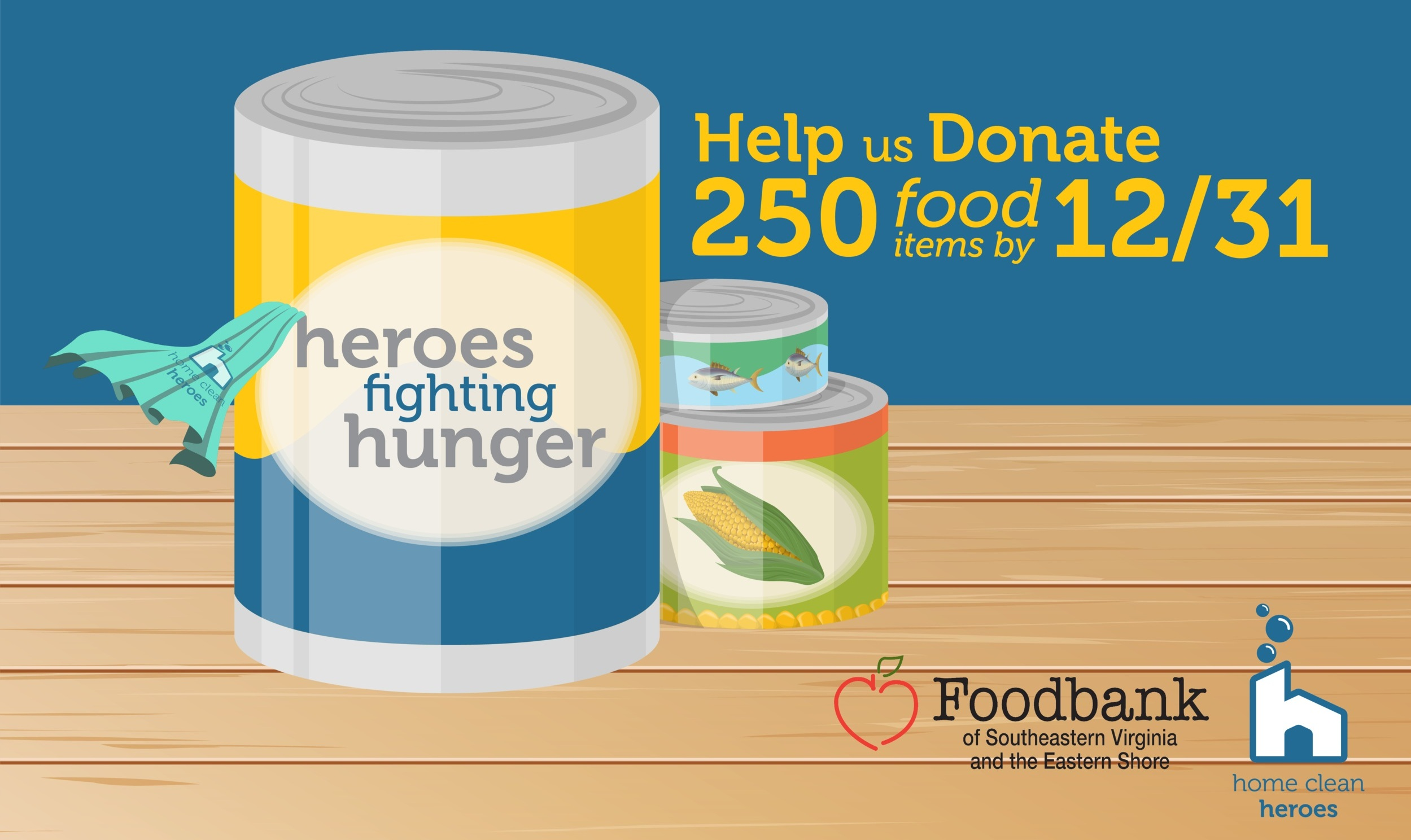 Heroes Fighting Hunger Food Drive