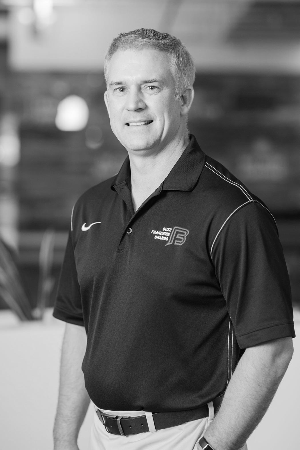 Black and white image of Brian Garrison, COO