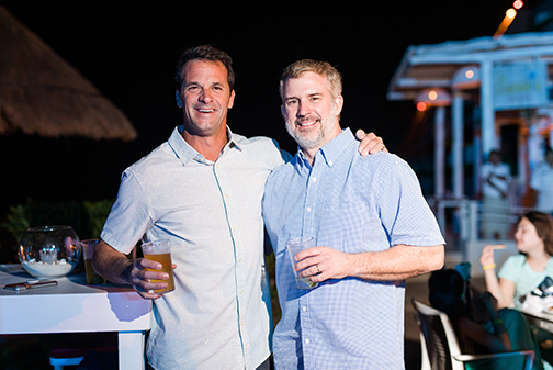 Pool Scouts President Michael Wagner and BFB COO Brian Garrison at the Pool Scouts Convention.jpg