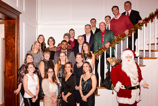 BFB Employees at the Holiday Party at Kevin Wilson's Home