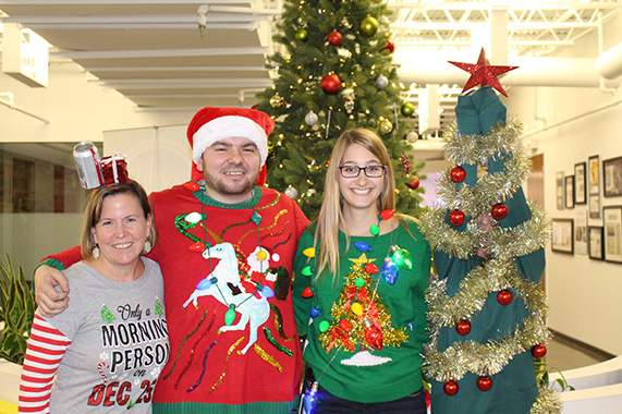Buzz Franchise Brands Ugly Sweater Contest Winners