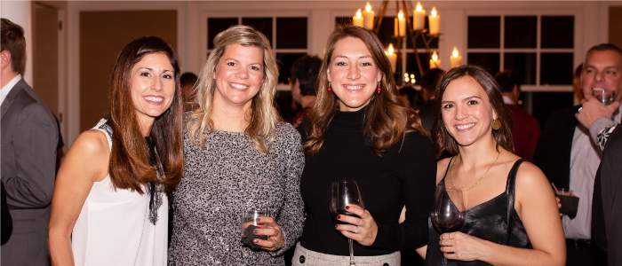 Partial BFB Marketing Team at Annual Office Christmas Party: Angela Paules, Gwen Marsh, Tiffany Frazier and Cait Sherrick