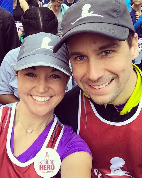 Kinsey and Jake running St. Jude's Half Marathon