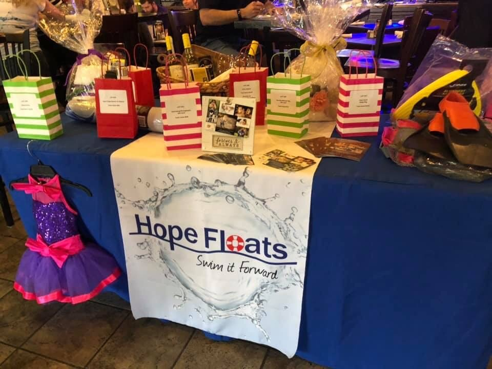 Hope Floats organization booth at USSA conference
