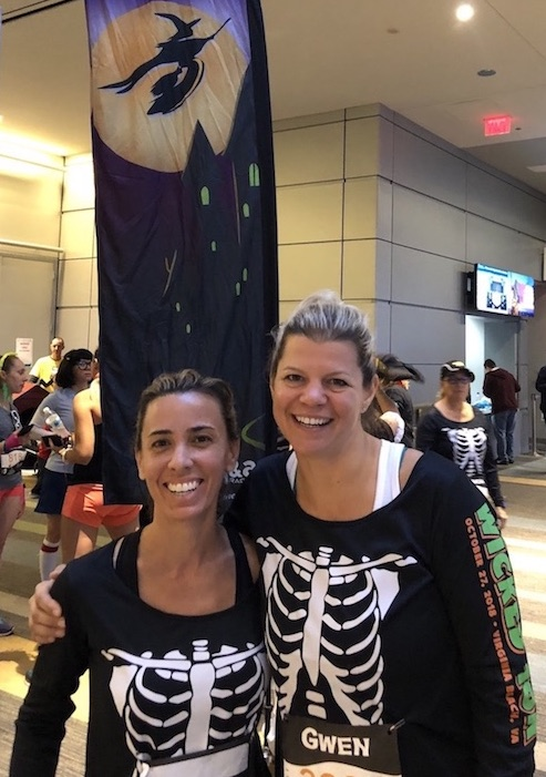 Barbara and Gwen after running the Wicked 10K