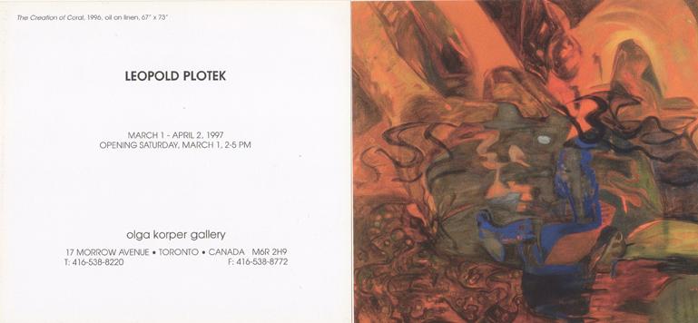 Olga Korper Gallery, Toronto, Canada, 1997 (solo)