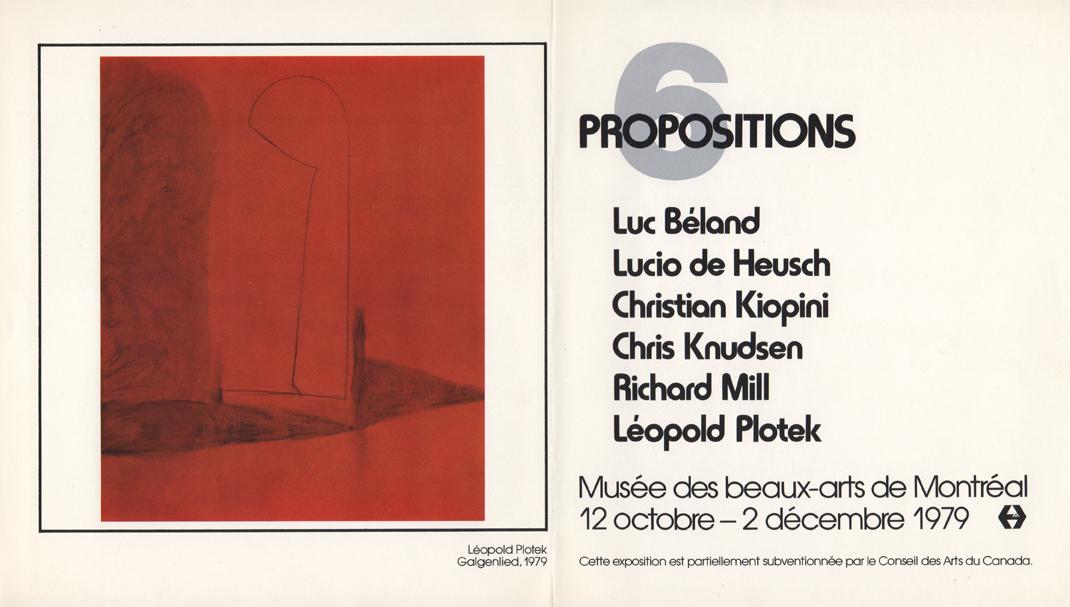 Musée des beaux-arts de Montreal, Montreal, Canada, 1979 (group)