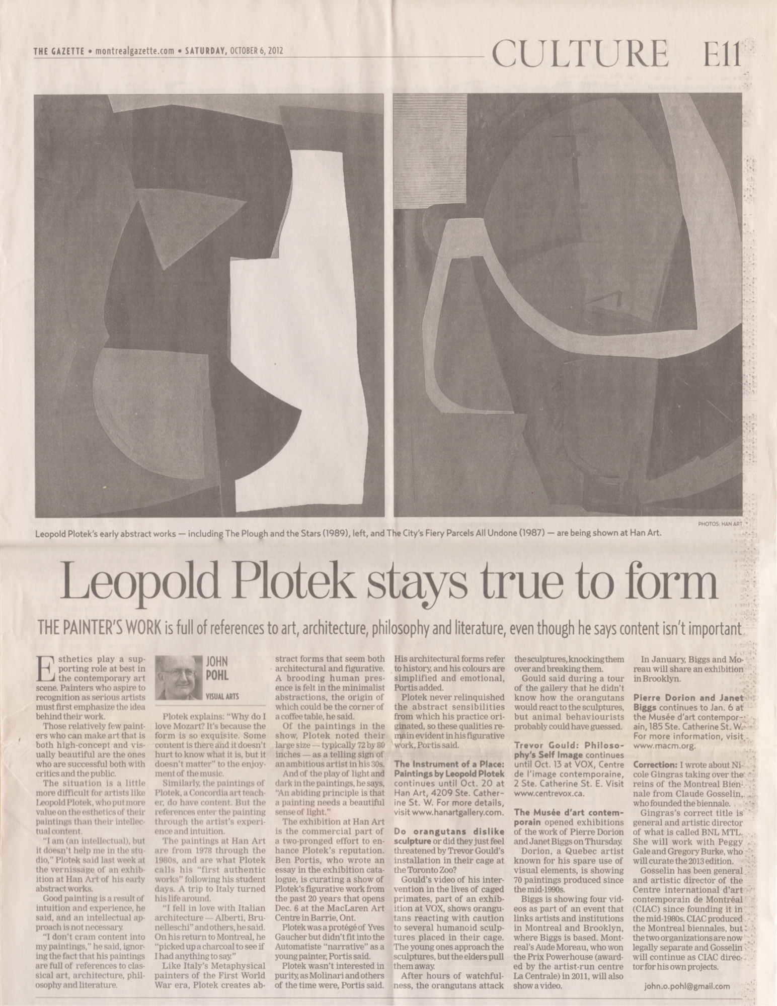 The Montreal Gazette Saturday, October 6, 2002