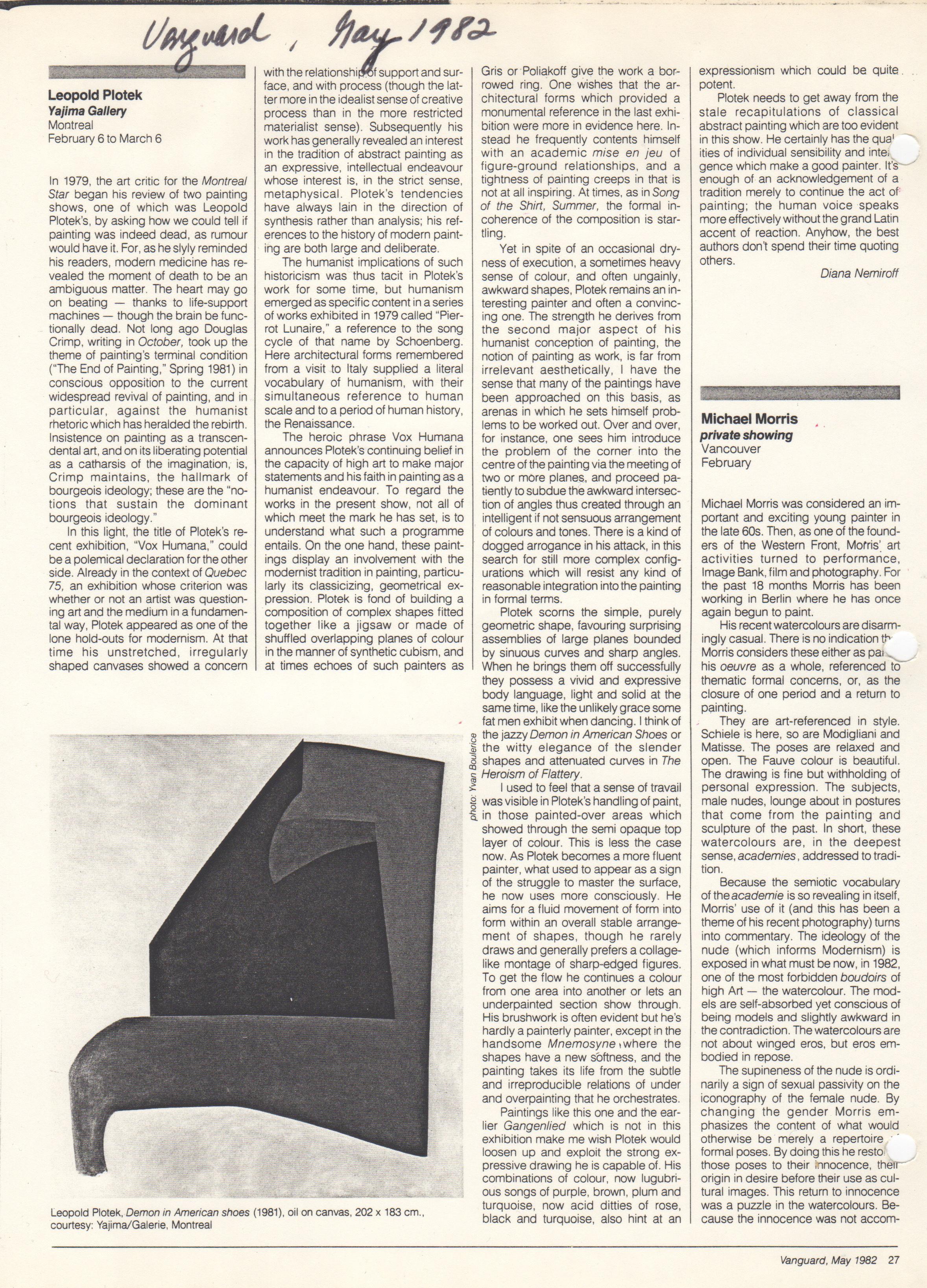 Vanguard Magazine, May 1982