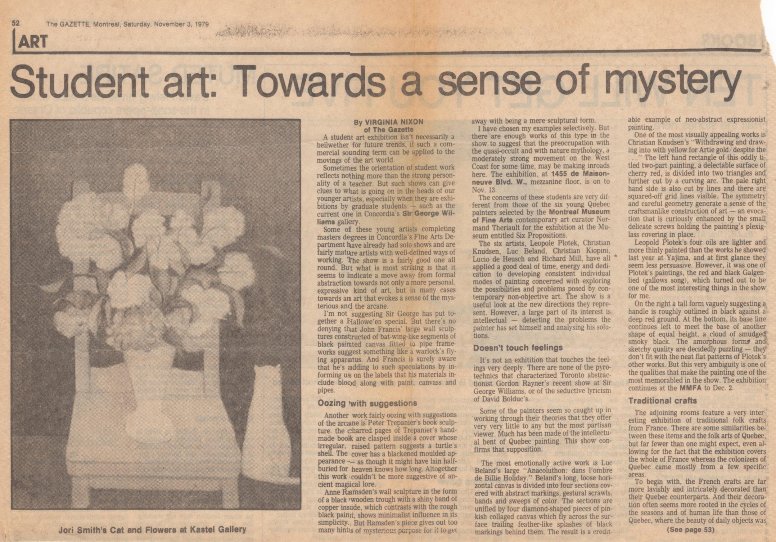 The Montreal Gazette Saturday, November 3, 1979