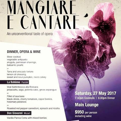 "Please come and join an opera evening at #hkcountryclub ""Mangiare E Cantare"" with full course dinner, free flow wine and a taste of #opera !"