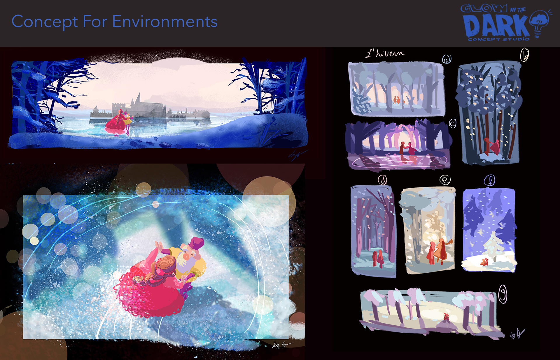 Color keys and Story Beats for Environments. Client Work, Feature.