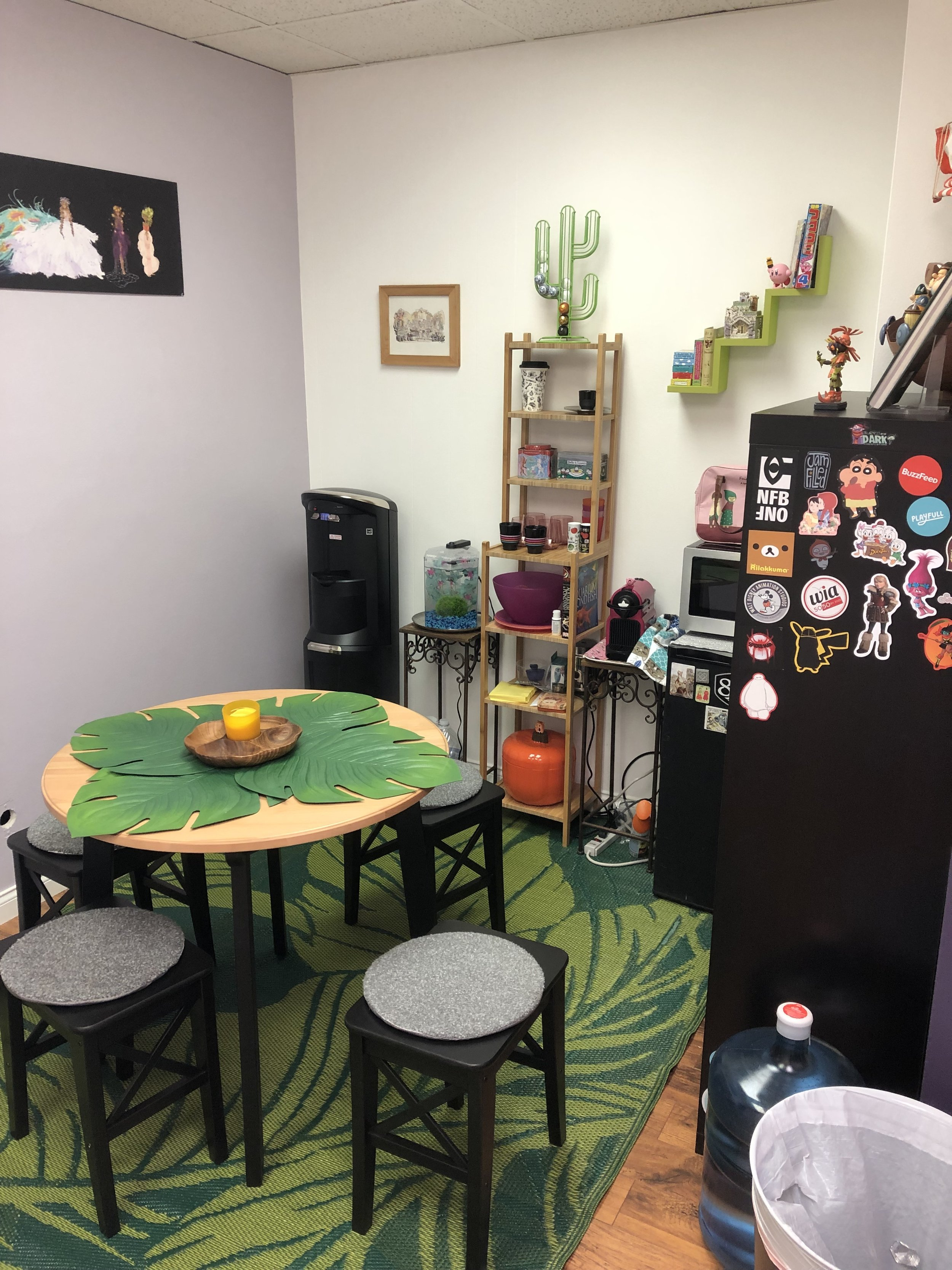 Our dining area and coffee station!