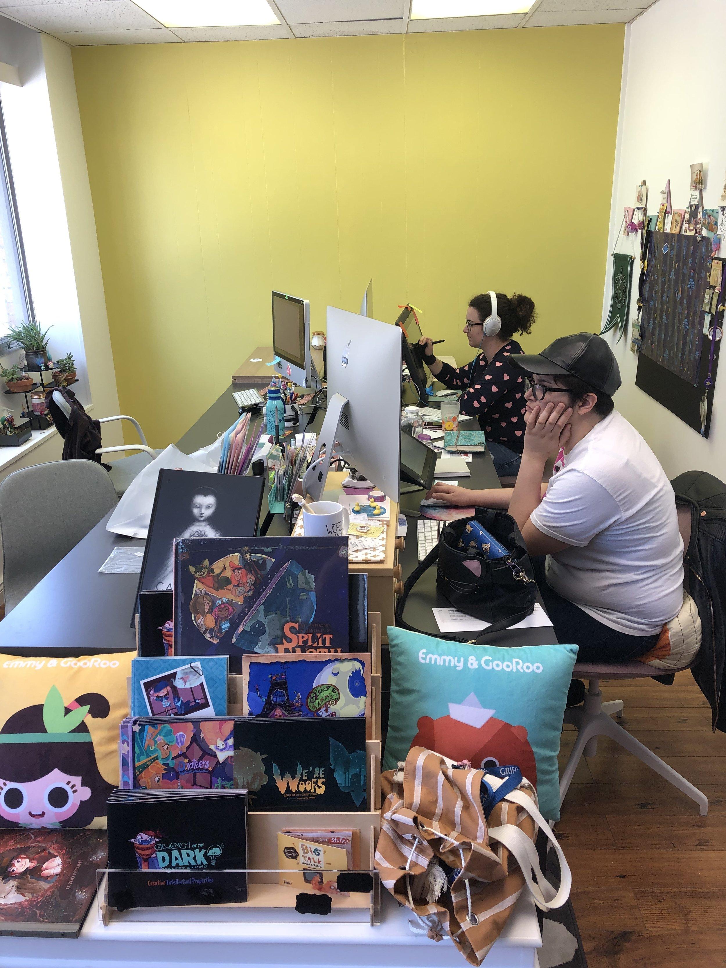 Creative Mastermind Katia and Writer Lydia hard at work!